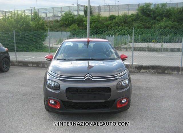 Citroen C3 Shine Grigio Platinum Tetto Rosso Frontale km0