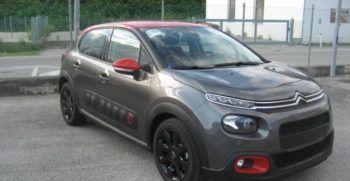 Citroen C3 Shine Grigio Platinum Tetto Rosso Obliquo km0