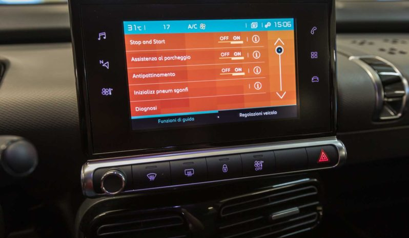 Citroen Interni C4 Cactus Shine Cumulus Grey Keyless Display