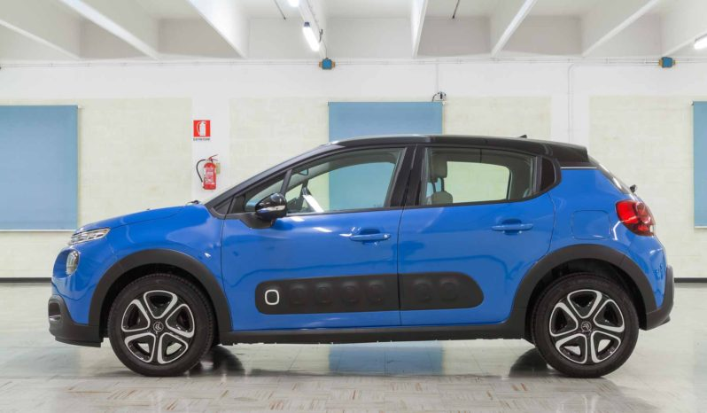 Citroen C3 Shine Blu Tetto Nero Km0 Profilo